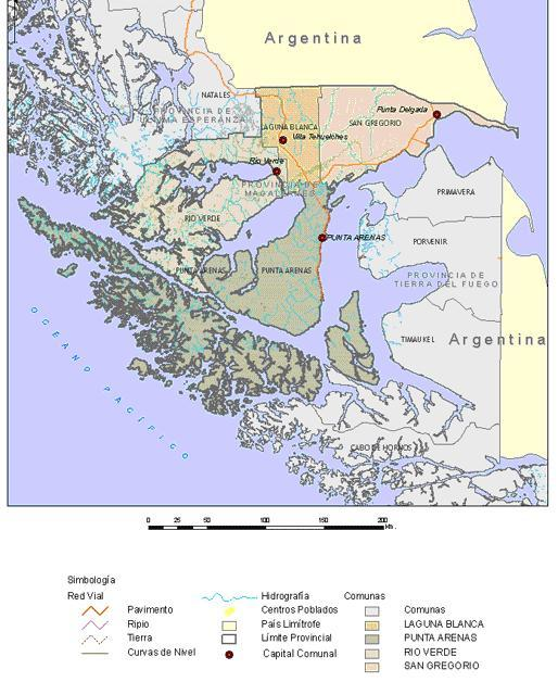 Mapa de la Provincia de Magallanes